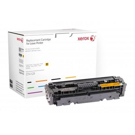Toner Xerox remplace HP CF412X Yellow