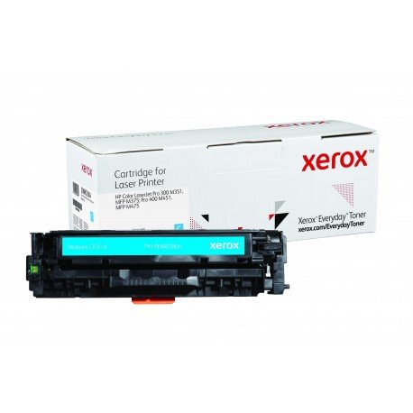 Toner Xerox Everyday remplace HP CE411A Cyan