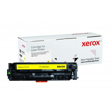 Toner Xerox Everyday remplace HP CE412A Yellow