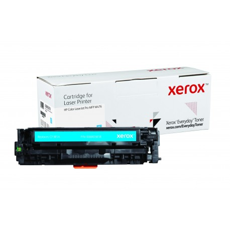 Toner Xerox Everyday remplace HP CF381A Cyan